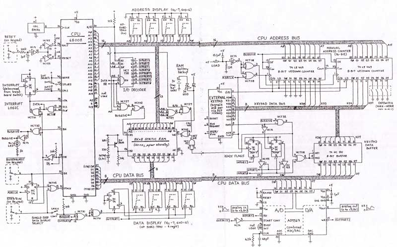 schematic microcomputer